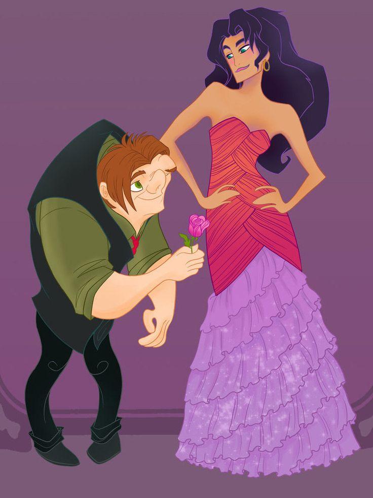 Esmeralda - Les héroïnes de Disney vont à leur bal de promo - Grazia