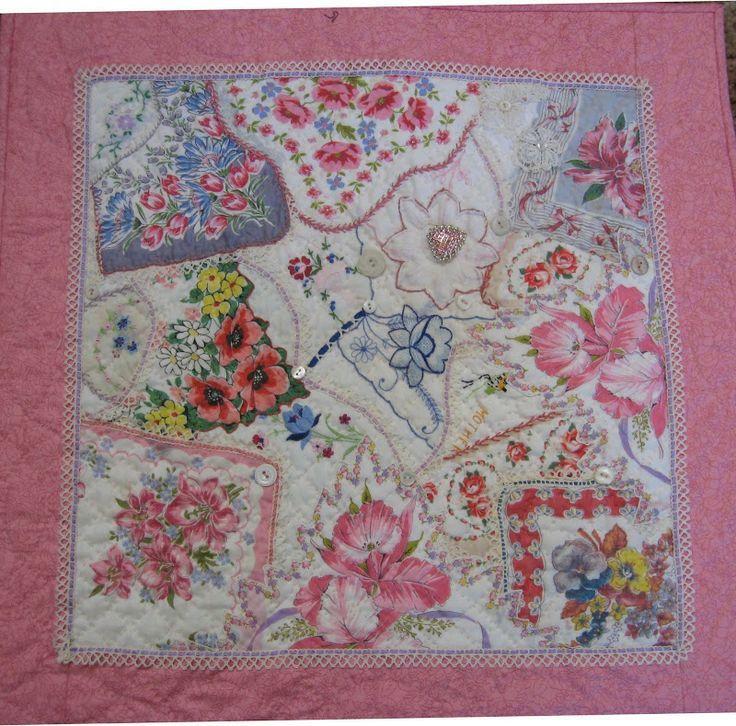 17 Best images about Doily & Hankie Quilts on Pinterest Vintage handkerchiefs, Velvet and ...
