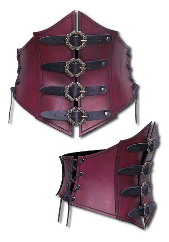Larp Mieder - Piratin, rot von Andracor