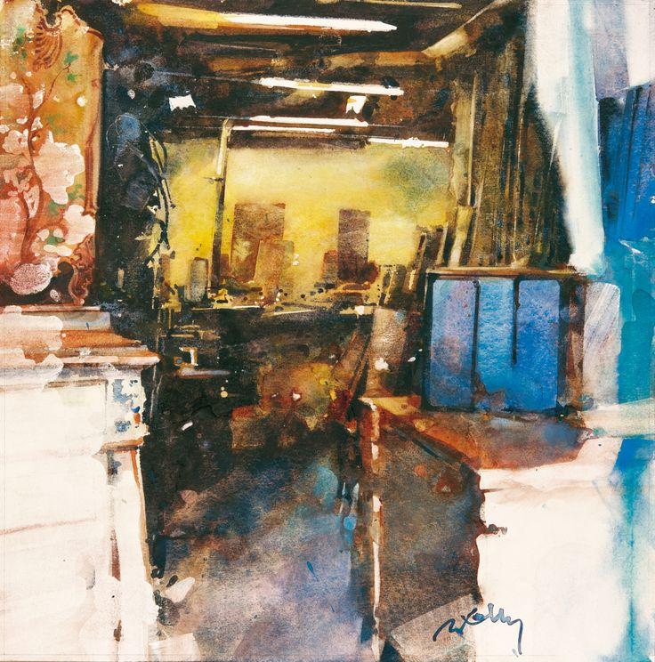 Marc Folly: La brocante, Marseille(40X40)