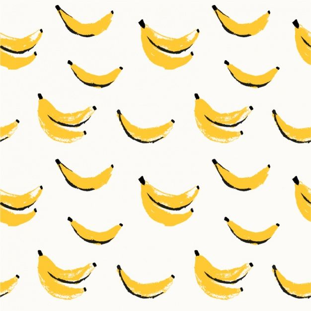 Bananas pattern design Premium Vector