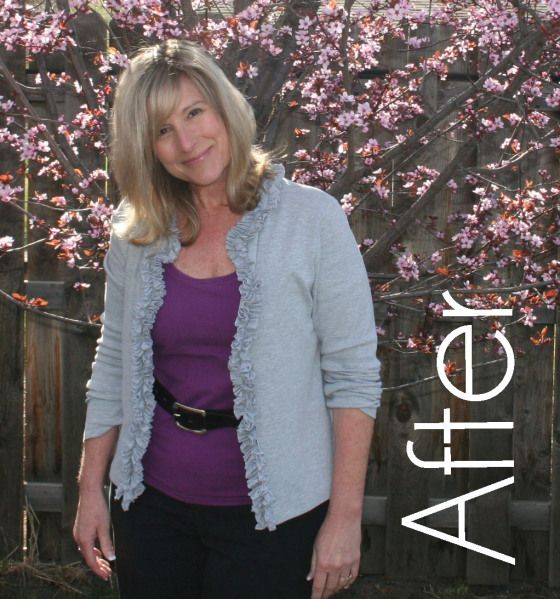 A zillion upcycled clothing tutorials, including this one: DIY ruffle t shirt cardigan. Remake your entire closet!