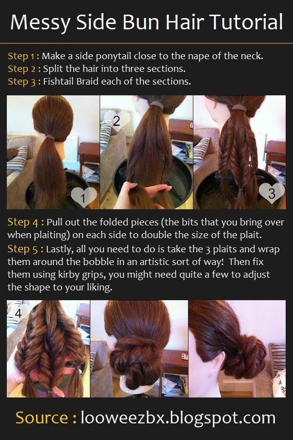 Messy Side Bun Hair Tutorial | Hairstyles and Beauty Tips