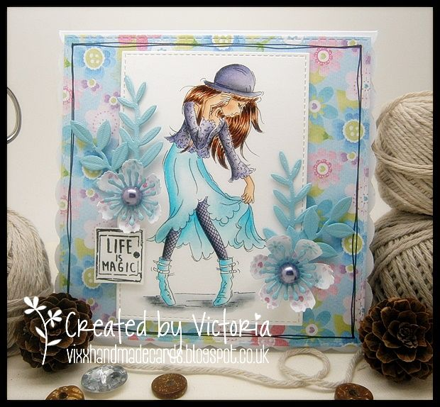 Vixx Handmade Cards: LILI OF THE VALLEY DT POST ~ SNEAK PEEK RETRO GIRLS # 4