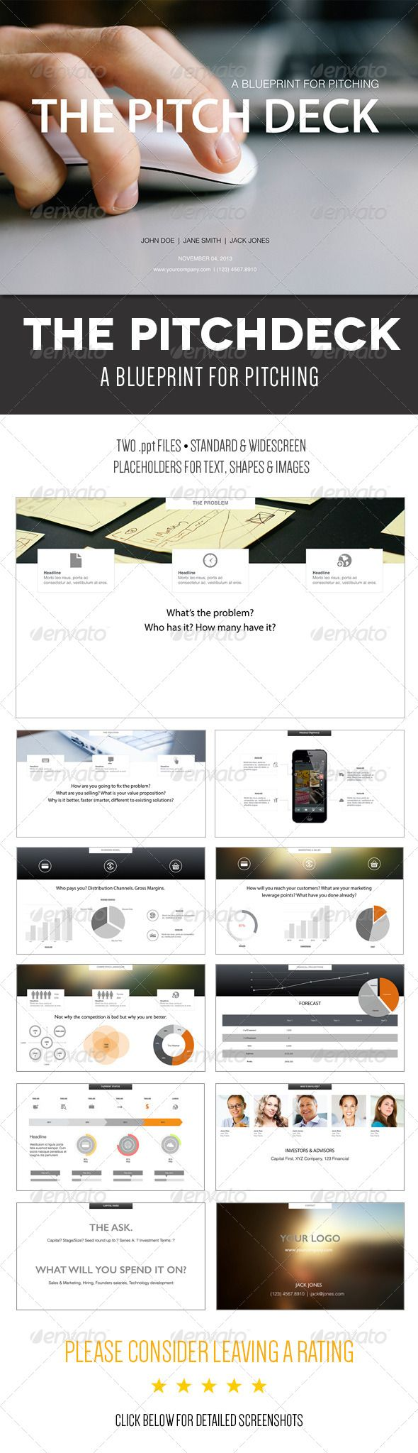 The Pitch Deck - A Powerpoint Template  #GraphicRiver        A Blueprint for Pitching Cut to the chase and improve your pitch