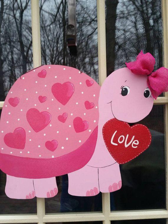 Valentine Door Hanger. Valentine's Day Door Decor.  by MoniLulis