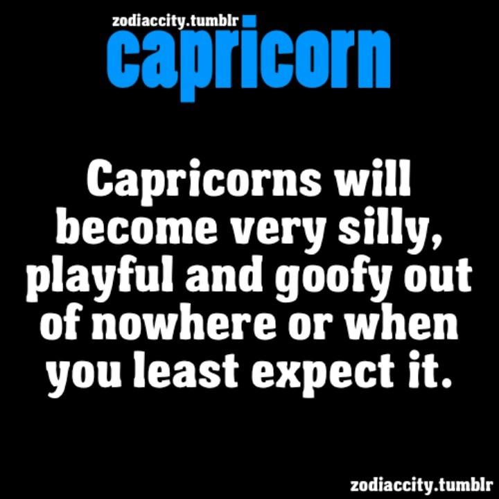 Capricorn silly