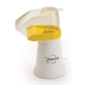 Presto Pop Lite Air Popper. Inexpensive and works really well. So much better than microwave popcorn!