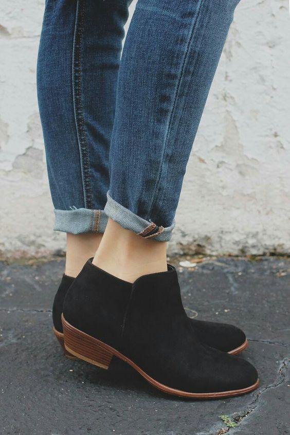 Botines Negros #estaesmimodacom #zapatos #botas #tacon #calzado