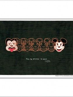Mickey To Tiki (reversed) – Matted Print | Design Withdrawals