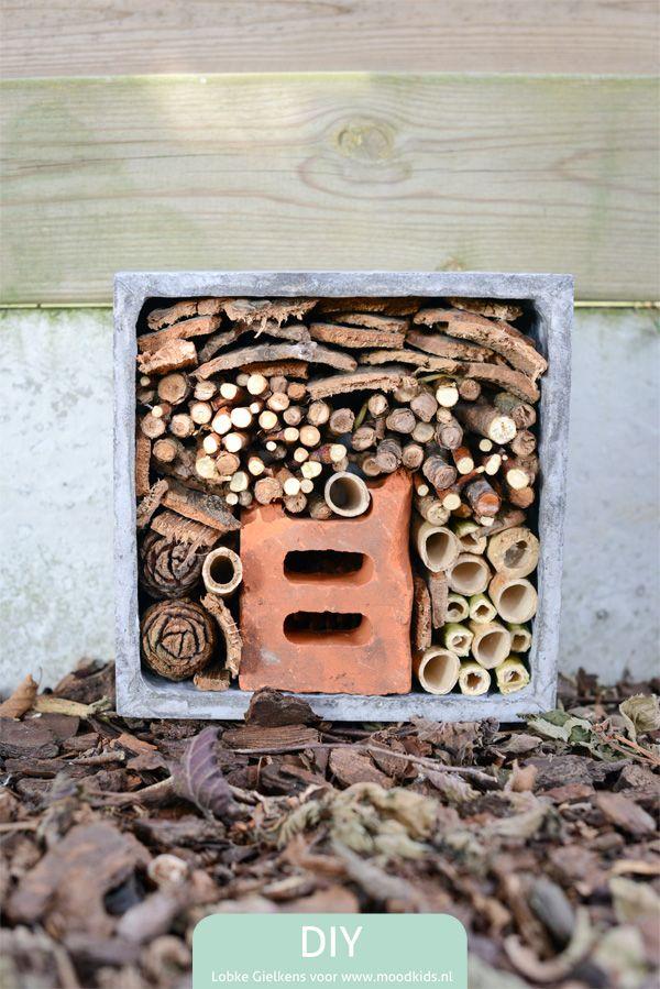 Zelf een insectenhotel maken doe je zo : Moodkids
