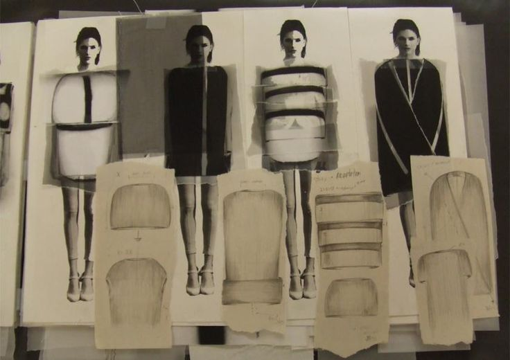 Fashion Sketchbook - developing a collection; fashion design drawings & development; fashion folio