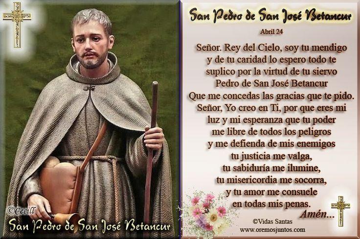 Imágenes de Cecill: Estampita Oración a San Pedro de San José Betancur