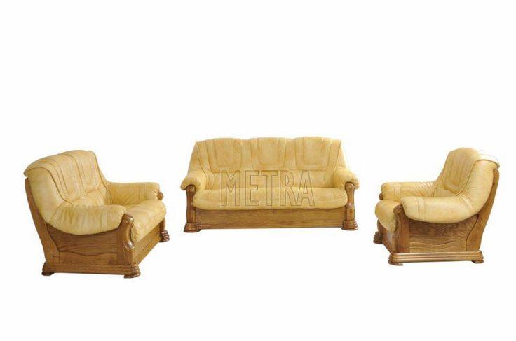 Set 3/2/1 Ledersofa Ledercouch Garnitur Ledergarnitur Wohnlandschaft Leder Sofa…