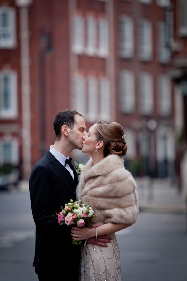 Jenny Packham Sequin Glamour For A Black Tie, City Chic Winter Wedding - Sarah Salotti Photography
