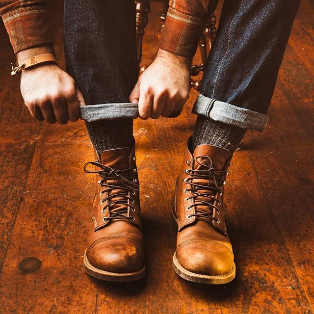 Red Wing 8115 Iron Ranger Copper Rough and Tough Leather Boots , $319 Photo by @brandonburkphotography