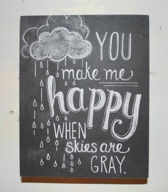 make me happy chalk sign