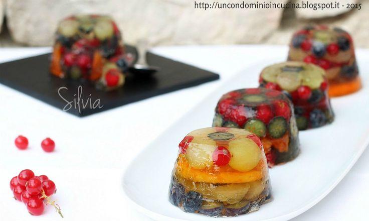 Un condominio in cucina: Piccoli aspic di frutta in gelatina di moscato