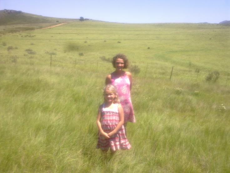 """Little House on the Prairie"" SA style - my girls 2010"