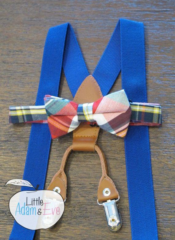 Royal Blue Suspender Set Toddler Toddler Bows by LittleAdamandEve