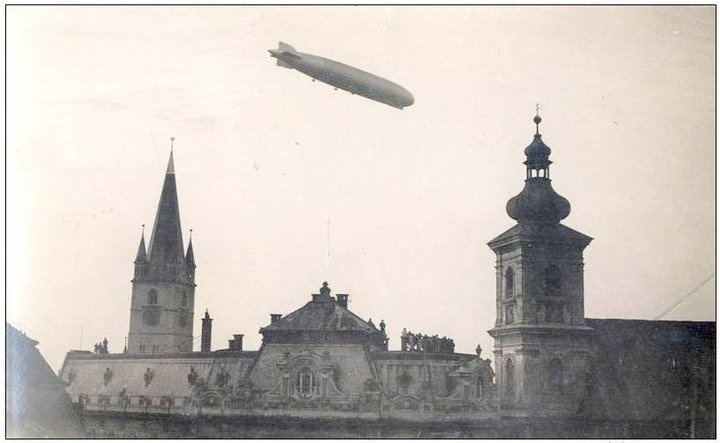Sibiu - Zeppelin - 16.Oct. 1929