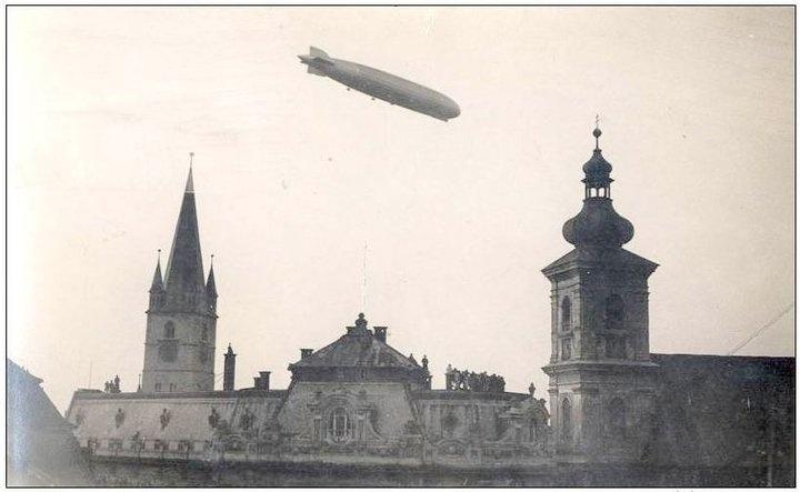 Sibiu - Zeppelin - 16.Oct. 1929