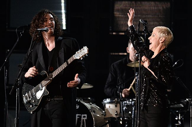 Grammys 2015: Hozier & Annie Lennox Mashup 'Take Me to Church/I Put a Spell on You' | Billboard