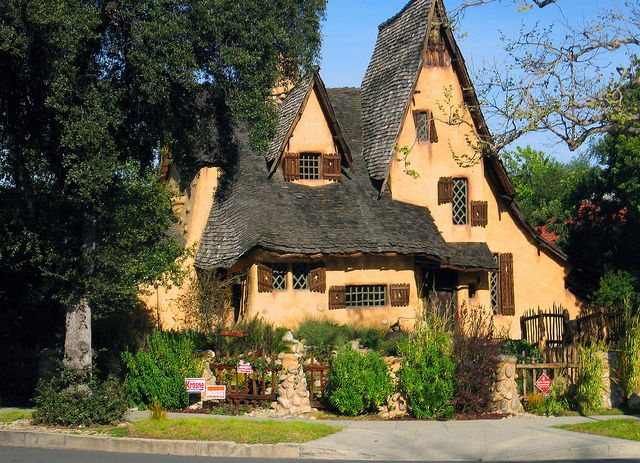The witch house by lori branham the spadena house also for Witches cottage house plans