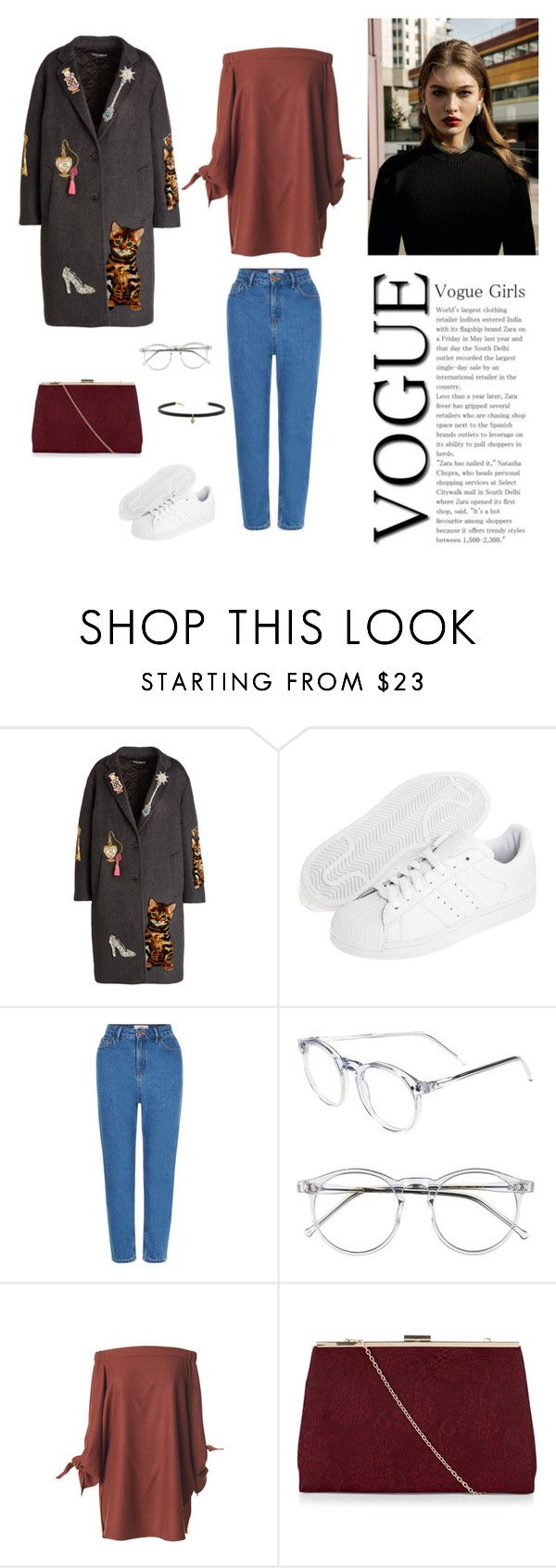 """""""15/10"""" by dorey on Polyvore featuring Dolce&Gabbana, adidas Originals, New Look, Wildfox, TIBI and Carbon & Hyde"""
