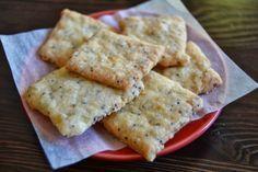 galletas de queso y semillas de amapola