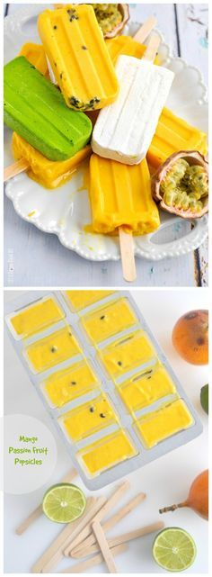 The tropical flavours packed into these Mango Passion Fruit Popsicles are a deliciously cool and colourful way to hold onto summer!