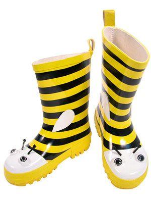 Kidorable Bumble Bee Rain Boots