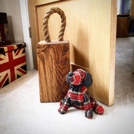 Solid Oak Doorstop - made from New Forest Oak by MantaMakesLtd