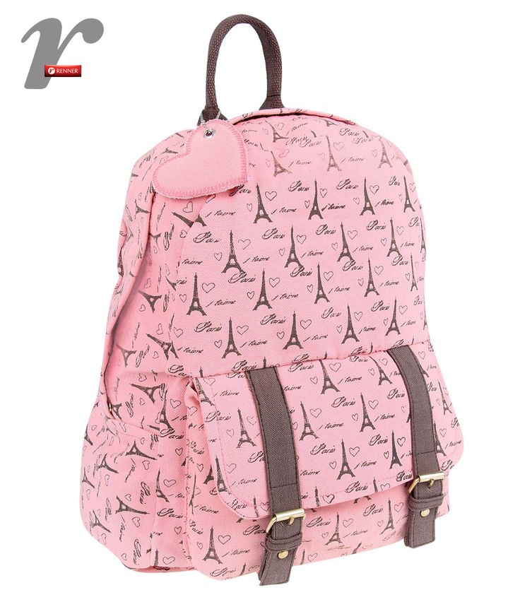 Mochila com estampa de Paris <3