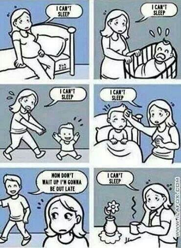 A mother's sleep cycle. ... And try all three stages at the same time, baby, child & teenager!