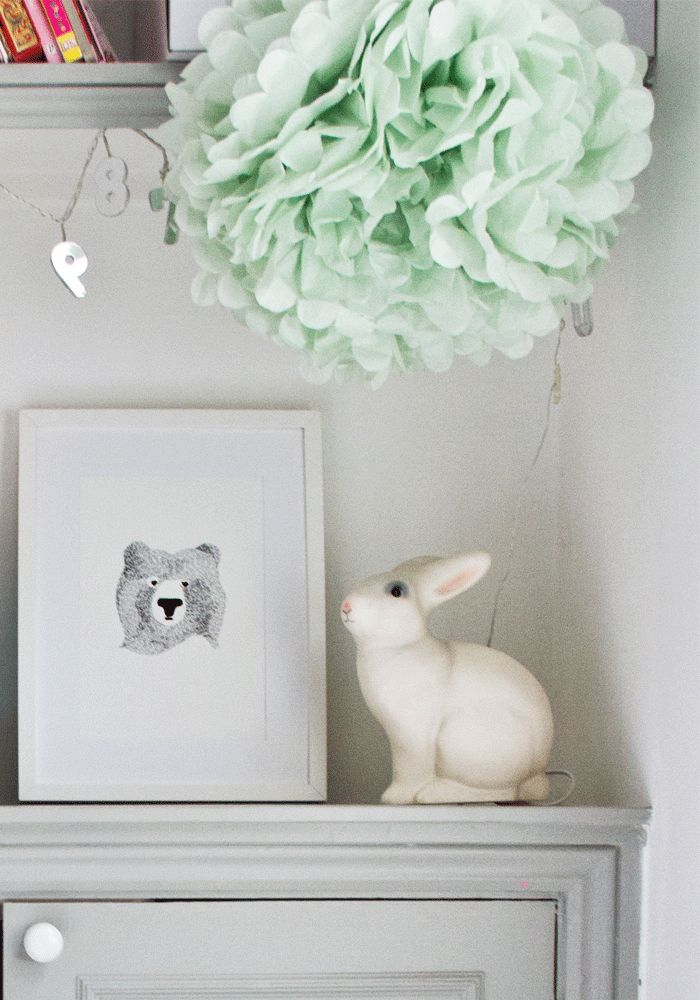 How to create a cute, inspiring corner in the kids bedroom....White Rabbit Lamp