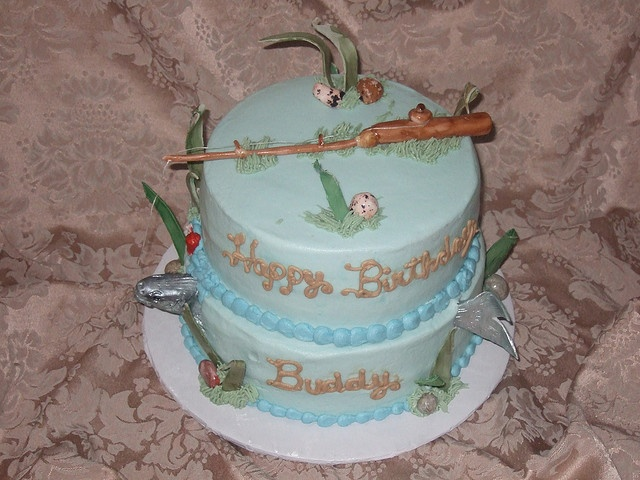 Fishing Birthday Cake--for Stacey                                                                                                            Fishing Birthday Cake--Top View             by        knox_cop      on        Flickr