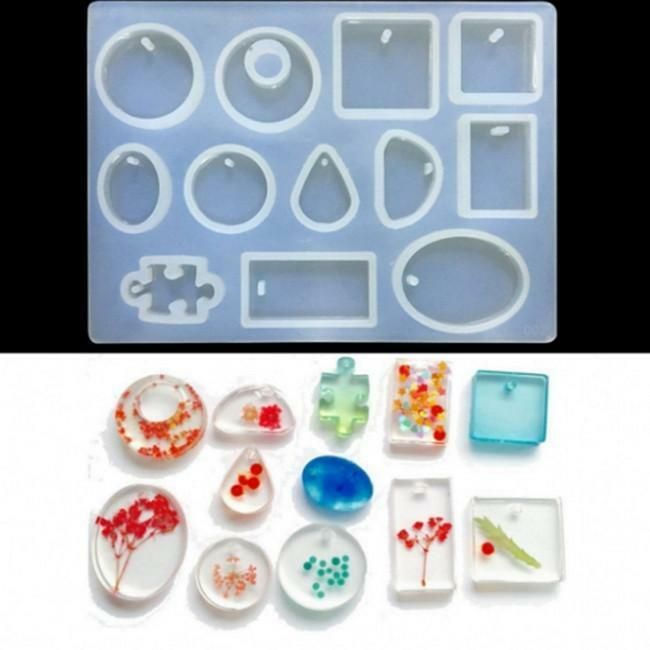 6X Silicone Pendant Mold Jewelry Making Resin Mould Epoxy Casting Craft Tool DIY