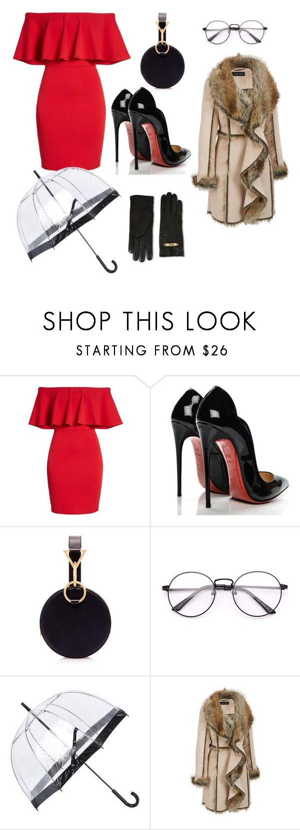 """Sans titre #8"" by selma-selma-kb ❤ liked on Polyvore featuring Soprano, Christian Louboutin, Tara Zadeh, Fulton, Moschino and plus size clothing"