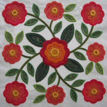 Rose Of Sharon Quilt And Machine Embroidery On Pinterest
