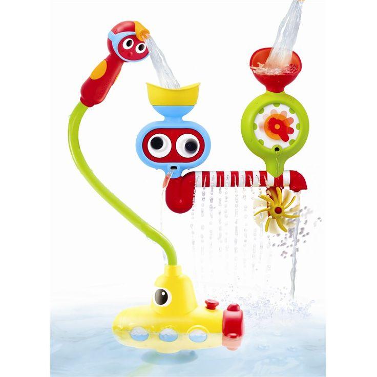 35$ indigo La station de pulvérisation sous-marine aspire l'eau par le sous-marin et fournit un jet d'eau à la douchette. Cette dernière peut ensuite être orientée vers la station aquatique fixée à la baignoire, générant du coup des effets magiques dans la baignoire. Comprend une douchette facile à utiliser. La station fixée à la baignoire comprend une roue, des yeux mobiles, un entonnoir amovible, une hélice pivotante et plus encore.