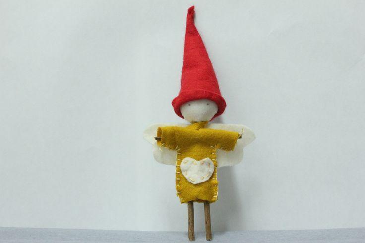 Petit Personnage Original, en feutrine, Fait Main, Décoration Noël : Accessoires de maison par passionnette
