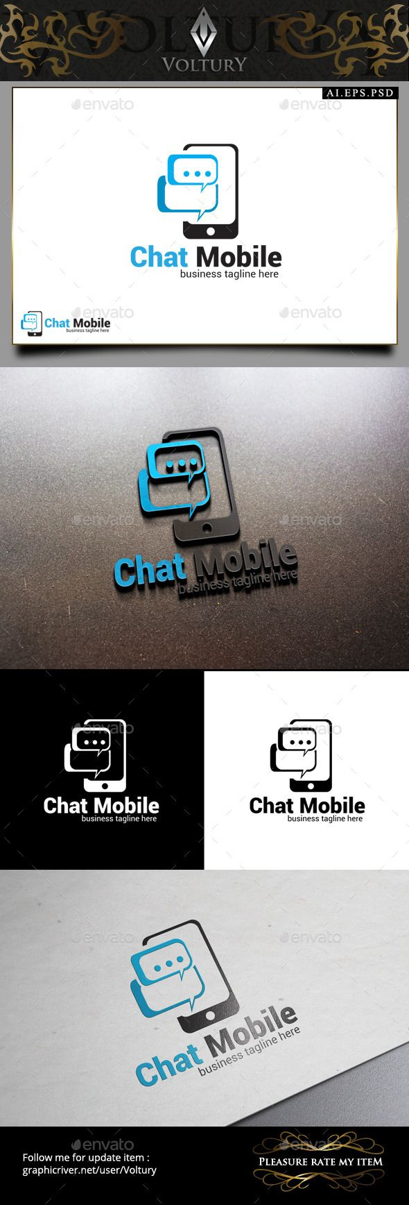 31 best company logo designs images on pinterest company logo chat mobile logo about item 100 vector ai in rgb and cmyk color biocorpaavc Image collections