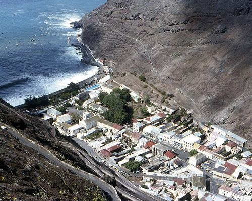 Saint Helena is a neighbor to Tristan da Cunha and Ascension Island (they are 1,510 and 810 mi apart, respectively) and has 47 sq mi of land. The island is dominated by Diana's Peak, a 2,684-foot-high mountain.4,000 hardy souls call Saint Helena home. Residents make their living working for the government, exporting goods like coffee and prickly pears, and growing New Zealand flax.