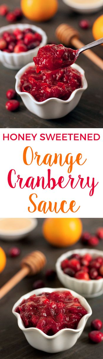 Honey Sweetened Orange Cranberry Sauce – So quick and easy, you'll never buy canned again! {naturally paleo, grain-free, gluten-free, dairy-free and with vegan option}