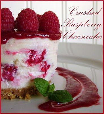 Crushed Raspberry Cheesecake