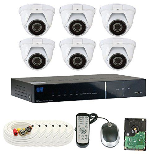 Extremely high quality system from GW Security. 8CH DVR Security Camera System with 1TB Hard Drive. Includes 8 Outdoor CCTV Cameras with IP66 Weather-Proof Housing and Motion Detection. Video quality is 720P with Starlight night vision and variable zoom