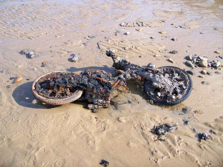 Motorbike washed up on Mundesley beach
