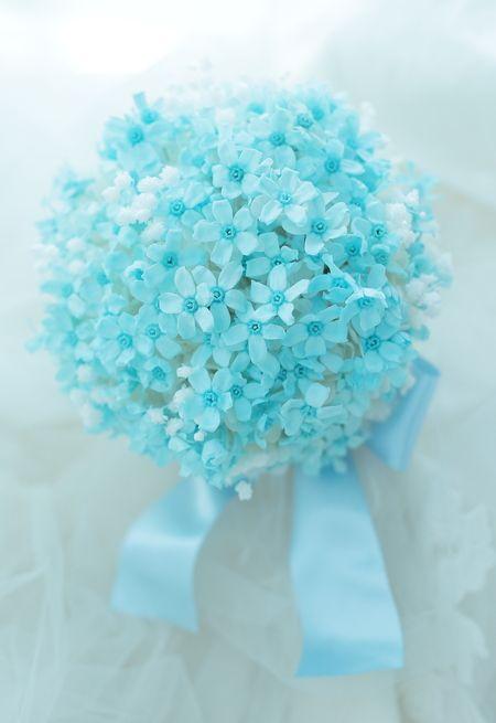 プリザーブドブーケ ブルースター 京都まで メール遅延のお知らせの画像:一会 ウエディングの花