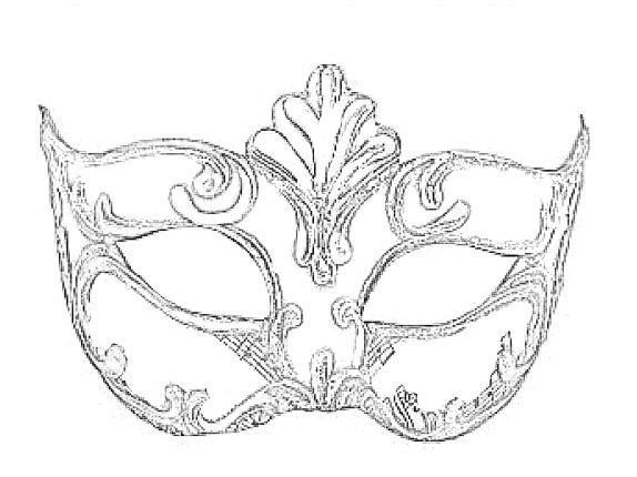 mask_from_venice Adult coloring pages
